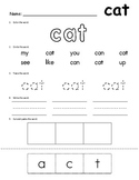 Sight Words - Word Work Sheets - SET 2
