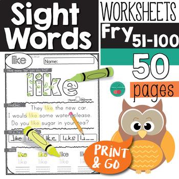 Sight Words Kindergarten