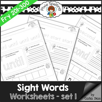 Sight Words Worksheets - Fry 201 to 300