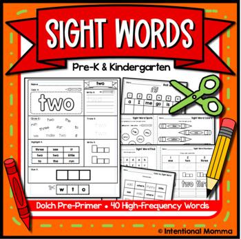 Sight Words and Alphabet for Preschool