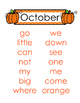 Sight Words by Month pdf
