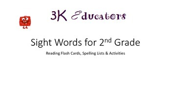 Sight Words for 2nd Grade Full Set