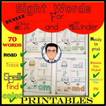 Sight Words for TK and Kinder