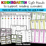 Sight Words for Wonders Kindergarten