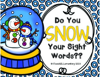 Do You SNOW Your Sight Words?? {PrePrimer and Primer Sight