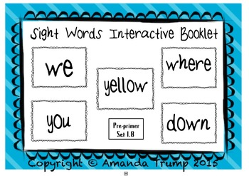 Sight Words (we, where, yellow, you, down) Interactive Boo