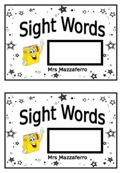 Sight word book cover