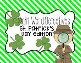 St. Patrick's Day sight word hunt