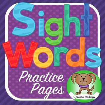 Sight word pages Kindergarten (U.S.)