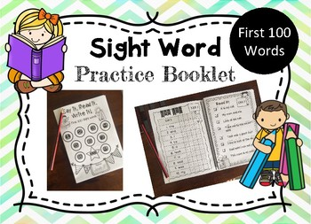 Sight words practice booklet!
