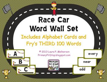 """""""Sightword Speedway"""" Word Wall Set for Fry's THIRD 100 Words"""