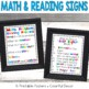 Sign Bundle: Math Problem Solving and Reading/ Writing Min