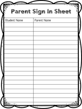 Sign In Sheets