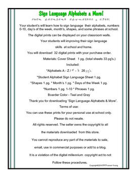 Sign Language Alphabets & More!