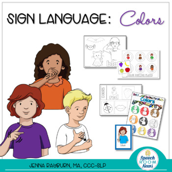 Sign Language: Colors :: ASL Activities to Teach Color Words