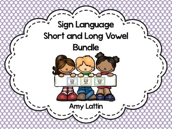 Sign Language Short and Long Vowel Bundle