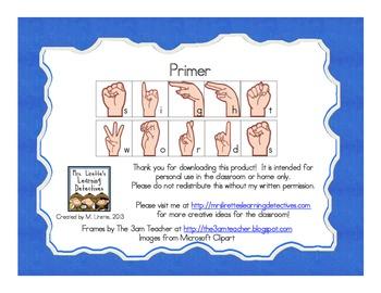 Sign Language Sight Words: Primer {FREE}