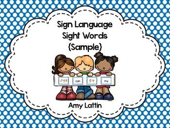 Sign Language Sight Words {Sample}