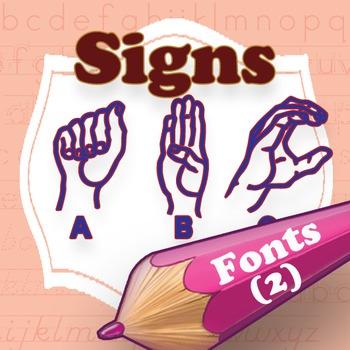 Sign Language family font (2 fonts)