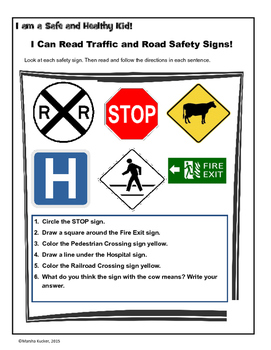 Sign Safety: Reading and Following Directions