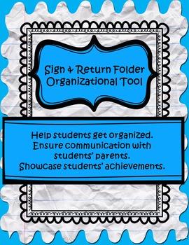 Sign and Return Folder Organizational Tool
