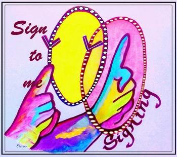 """American Sign Language """"Sign to Me"""" ASL POSTER"""