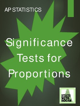 Significance Tests for Proportions