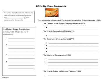 Significant Documents note page (CE.2b)