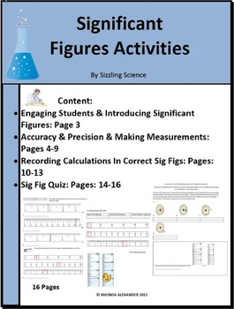 Significant Figures Activities