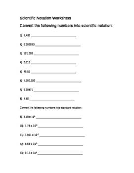 Significant Figure Worksheet