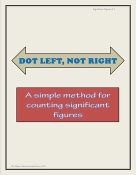 Significant Figures:  Dot Left, Not Right