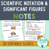 Significant Figures and Scientific Notation PowerPoint