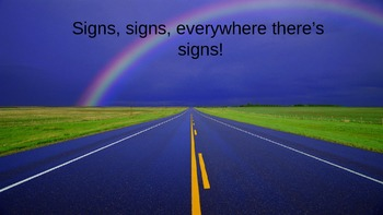 Signs Lesson
