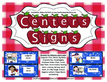 Signs for Your Centers