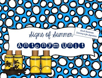 Signs of Summer: Antonyms