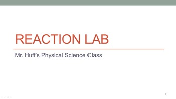 Chemical Reaction Lab - Recognizing Signs of a Chemical Re