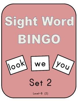 Sight Word Bingo - Set 2 (Level B -2)