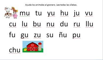 Silabas Practice (Spanish Syllable practice)
