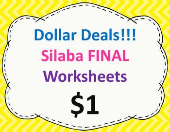 Silaba final Worksheets:  Dollar Deal