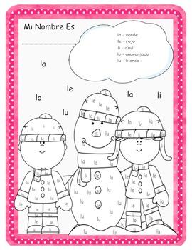Silabas Para Leer Y Colorear Con La L