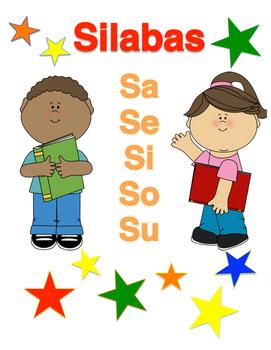 Silabas Sa, Se, Si, So, Su (Spanish Material)