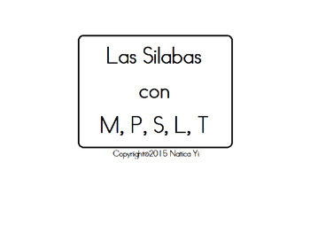 Silabas Syllables Fluency Sheet in Spanish