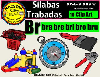 "Silabas Trabadas ""Br - br"" Clip Art Personal and Commercia"