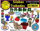 """Silabas Trabadas Clip Art BUNDLE """"MACSTAR Clips"""" Bilingual"""