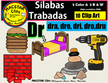 "Silabas Trabadas ""Dr - dr"" Clip Art Personal and Commercia"