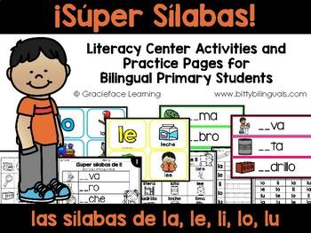Lindas Sílabas – Spanish phonics activities for la, le, li