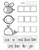 Sílabas con A E I O U - Worksheets and Games for Spanish S