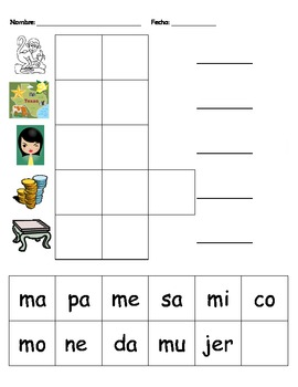 Silabas con la M