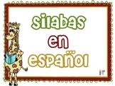 Silabas en Español. Presentación Powerpoint