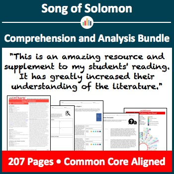 Song of Solomon – Comprehension and Analysis Bundle